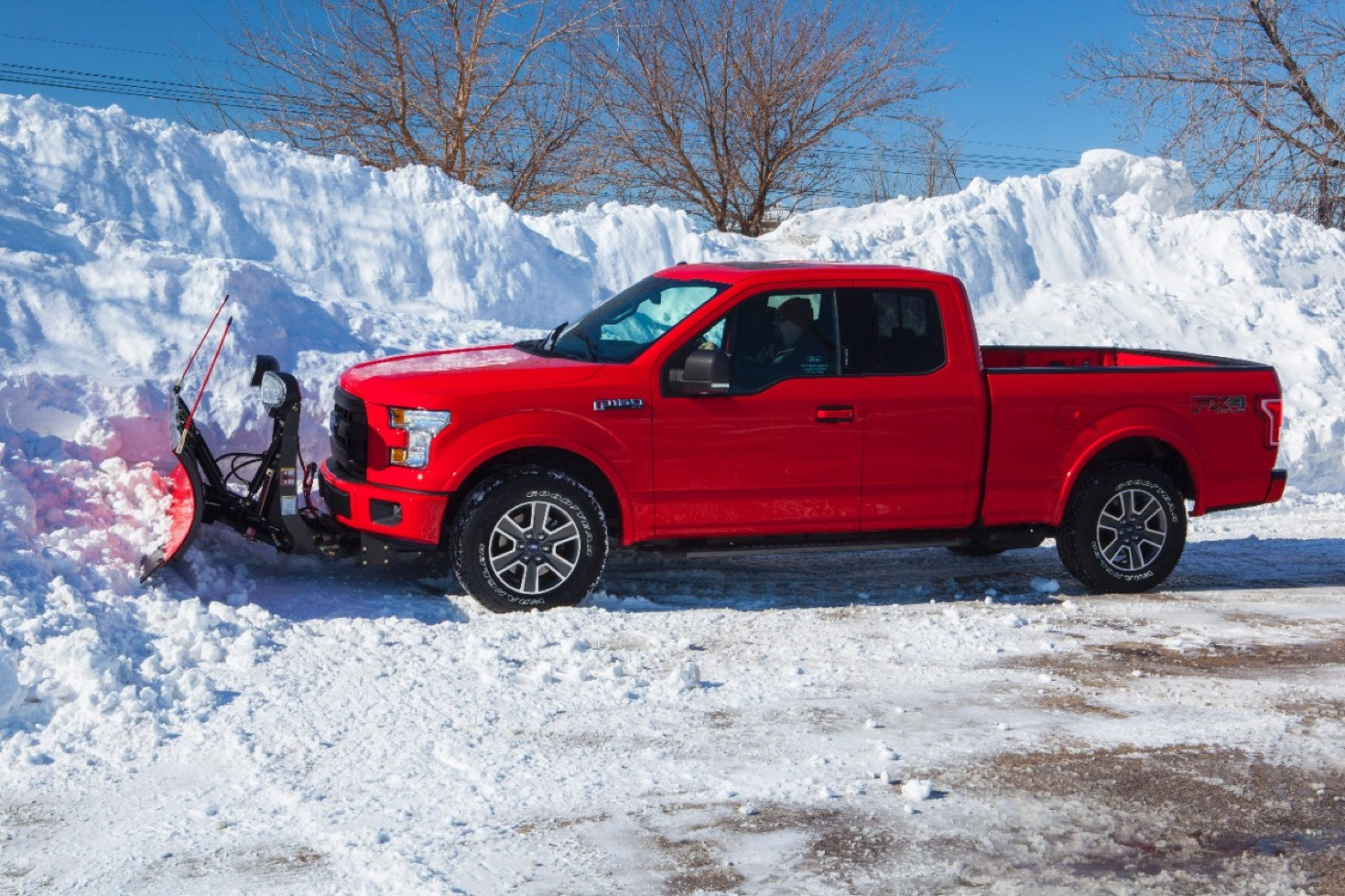 2015 Ford F-150 Looks Great With A Snow Plow