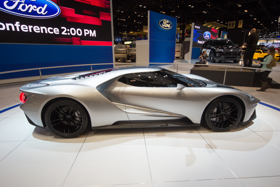 2016 ford gt in silver 2015 chicago auto - 2015 Ford Gt Auto Show