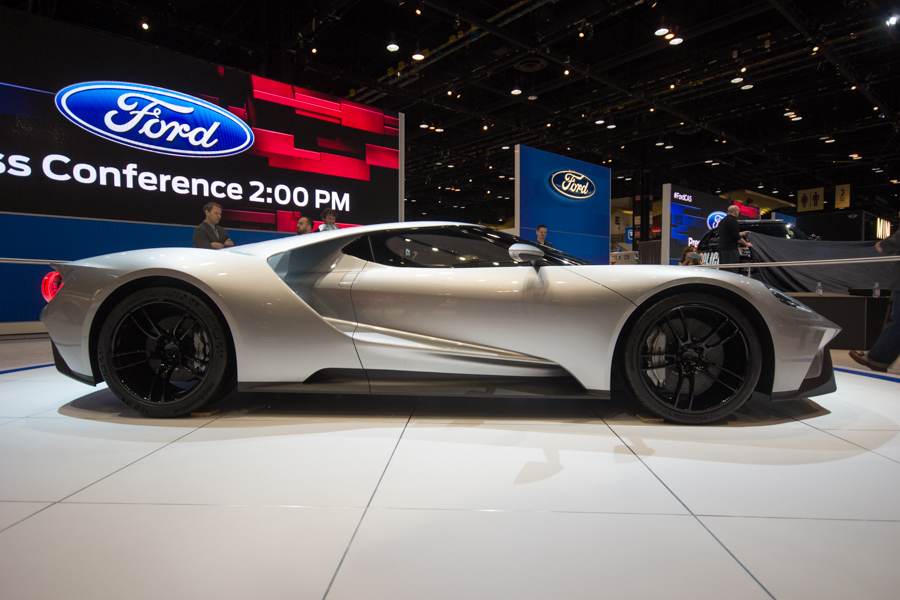 Ford Gt In Silver  Chicago Auto