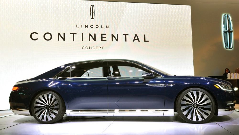 2016 lincoln continental debuts in nyc. Black Bedroom Furniture Sets. Home Design Ideas
