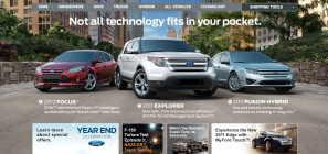 New graphic on Ford website - December 2010