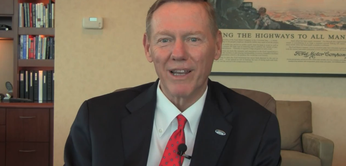 Ford CEO Alan Mulally Thanks Facebook Fans