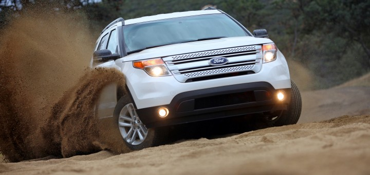 The 2011 Explorer on the all-media drive in San Diego, Californi