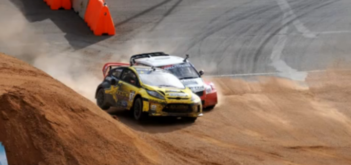 Tanner Foust Ford Fiesta Global Rally Cross Championship Crash