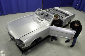 Ford-approved 1965 Mustang Convertible Body Shell for restorating
