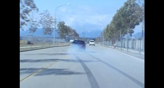 Ford Mustang Rolling Burnout