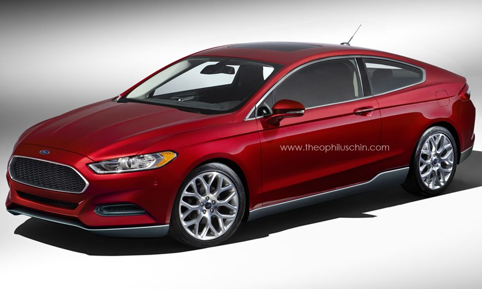 Exterior glass doors business - Rendered 2013 Ford Fusion Coupe Motrolix