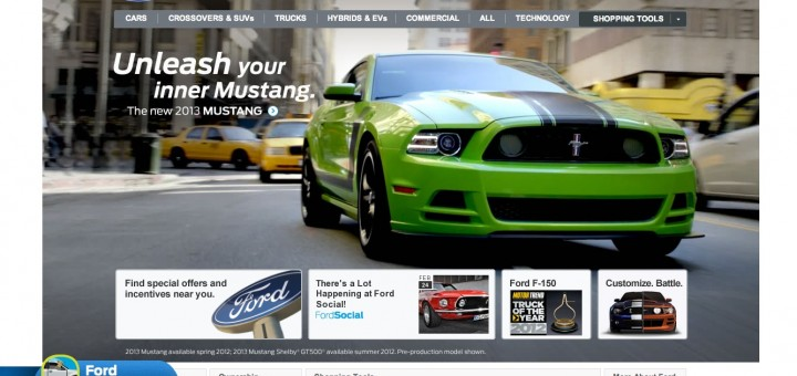 2013 Ford Mustang - Ford Website