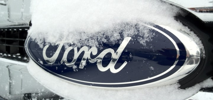Ford logo - snowed