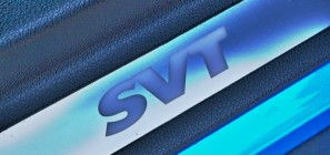 SVT sill badge on 2012 Ford Mustang GT500