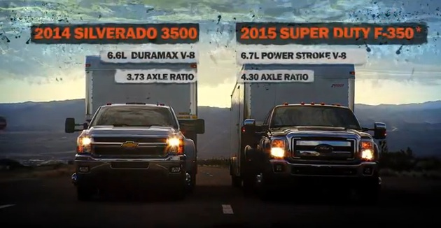 2014 Chevy Silverado 3500 vs 2015 Ford Super Duty F-350