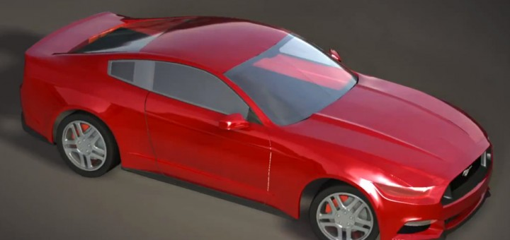 2015 Ford Mustang 3D Rendering