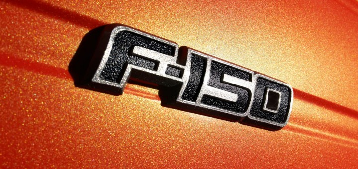 The outgoing F-150 badge
