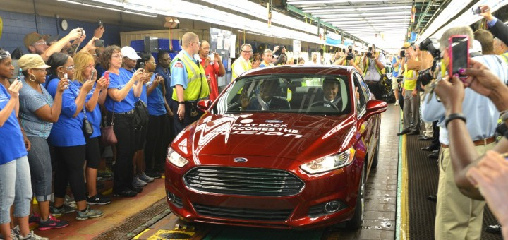 Ford Begins Producing Fusion Sedan In The United States