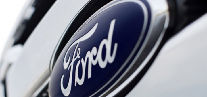 Ford logo up close
