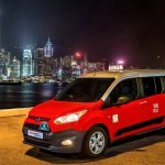 2014 Ford Transit Connect Taxi Hong Kong skyline night