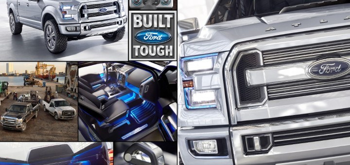 Ford Atlas And Ford Trucks Collage