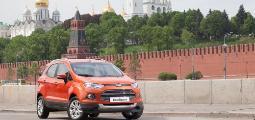 Ford EcoSport outside the Kremlin Moscow