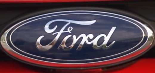 Ford logo on red Transit