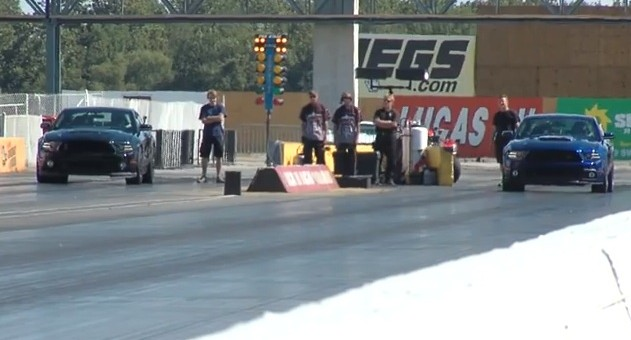 Mustang RS3 Aluminator vs 2014 Shelby GT500 drag race