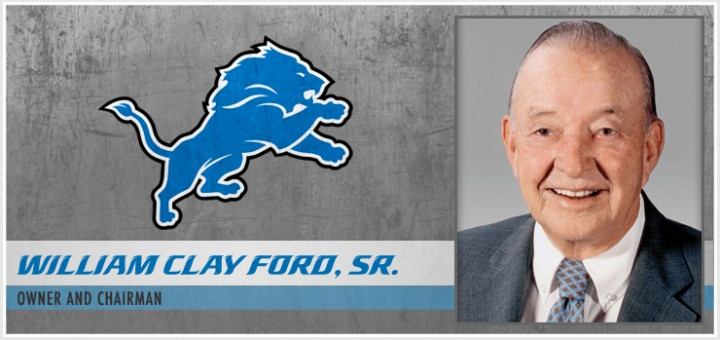 Detroit Lions - William Clay Ford Sr