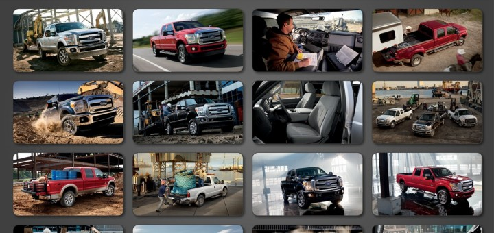 Ford Fleet iPad app - 2014 Ford Trucks display