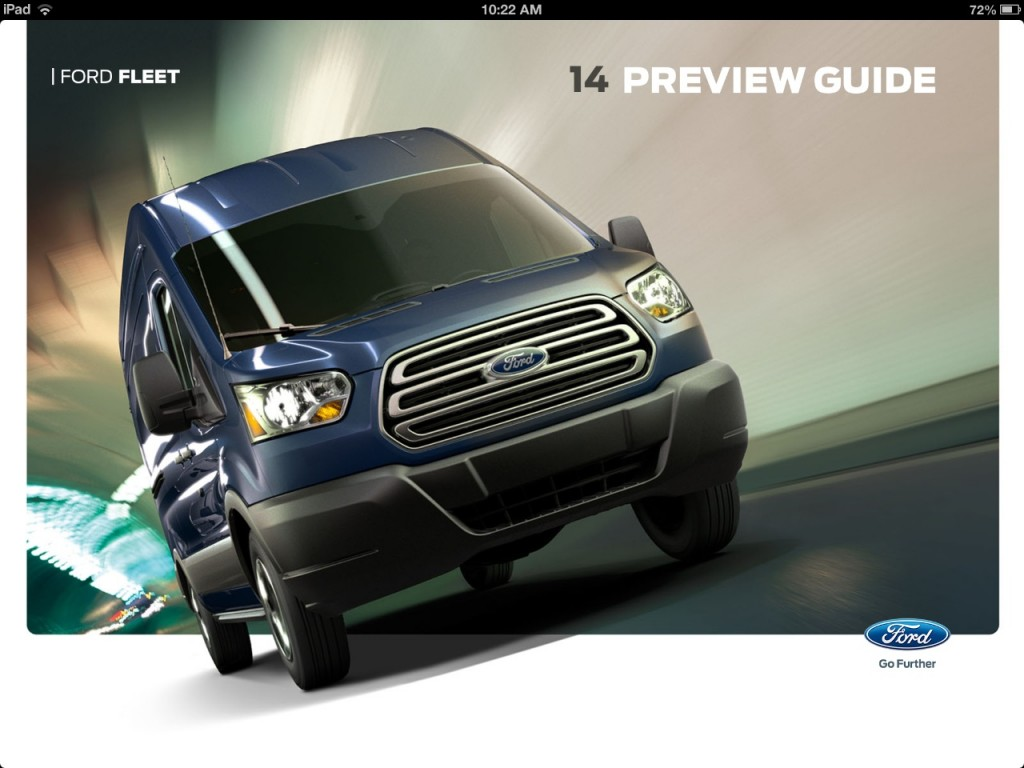 Ford Fleet iPad app - 2014 Preview Guide landing page