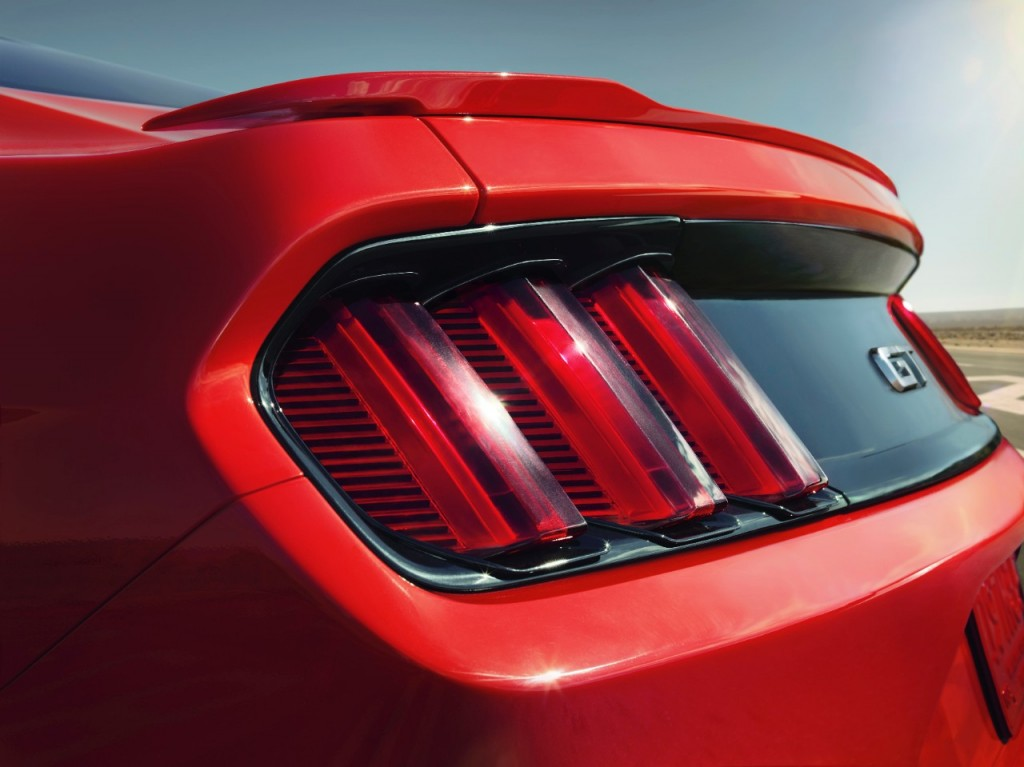 The three-dimensional surface of the taillights