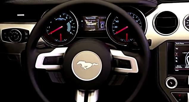 The interior of the 2015 Ford Mustang