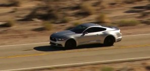 2015 Ford Mustang - silver - driving