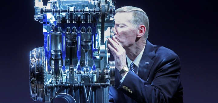 The 1.0 liter EcoBoost mill is so good that Ford CEO Alan Mulally gives it a smooch