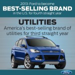 Ford Best Selling Brand in US 2013 utilities