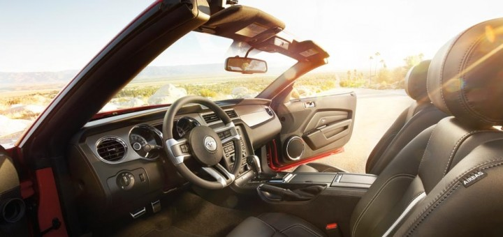 2014 Ford Mustang GT Convertible interior
