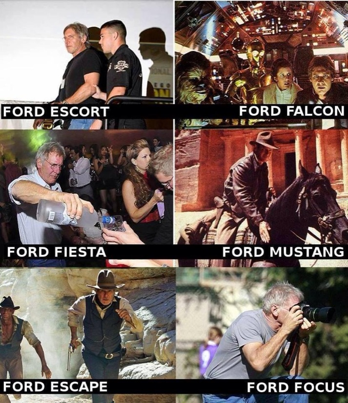 Harrison Ford through the phases