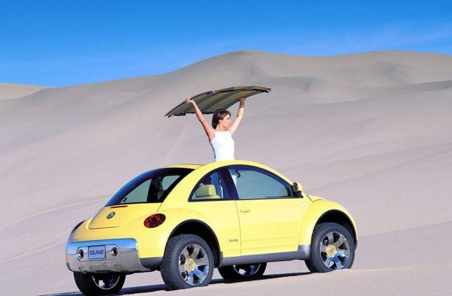 VW unveiled this New Beetle Dune Concept at the 2000 Los Angeles Auto Show