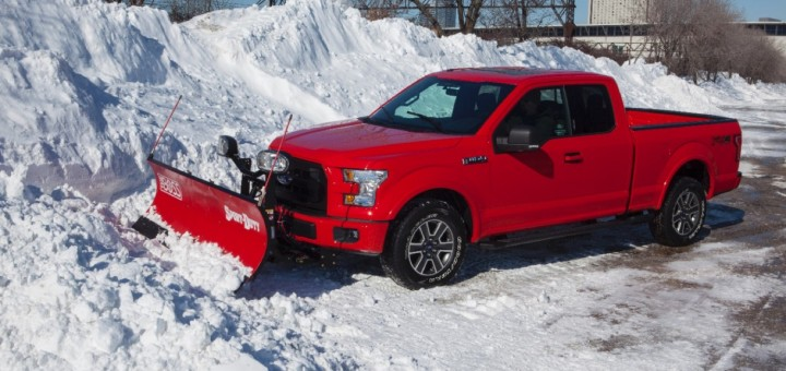 2015 Ford F-150 with snow plow 01