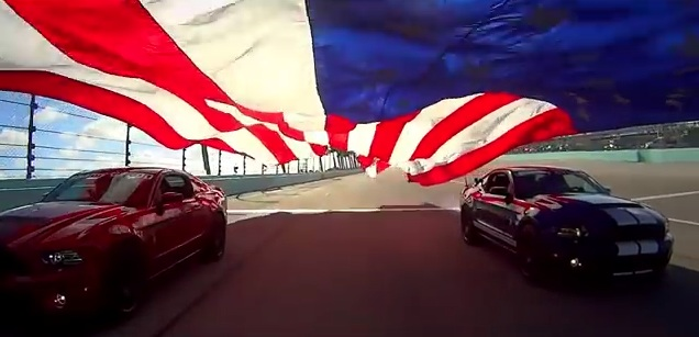 Ford 400 Flag Pull by Ford Trucks and Ford Mustang 3