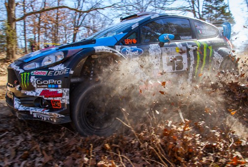 Ken Block Ford Fiesta WRC 100 Acre Wood