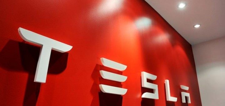 Tesla Motors Logo Wall