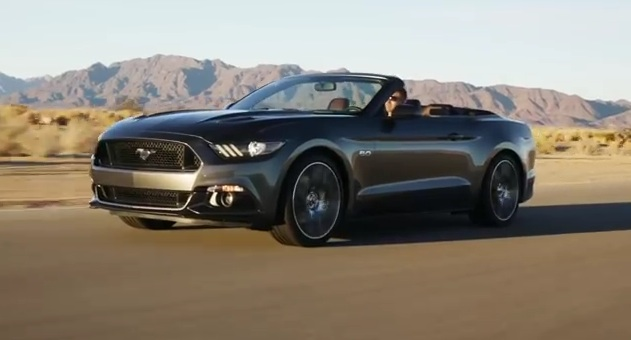 2015 Ford Mustang Convertible in action