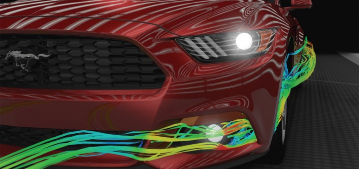Wheel Aero Curtains on All-New Ford Mustang Reduce Aerodynamic D