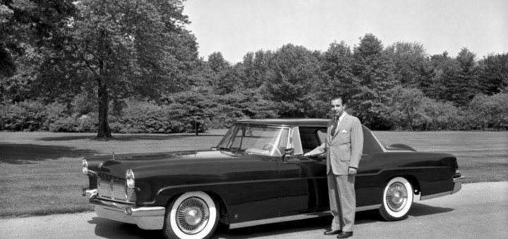 William Clay Ford with 1956 Lincoln Continental Mark II 1955