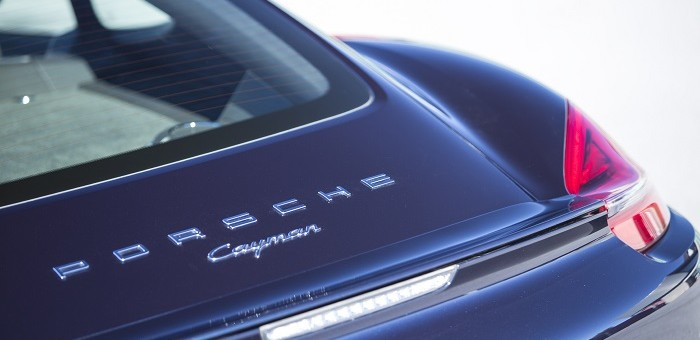 2014 Cayman Rear Badge