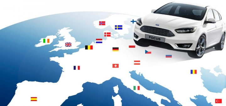 2015 Ford Focus - white - on map