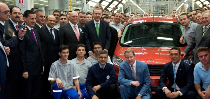 Ford Otosan Yenikoy plan opening with Bill Ford