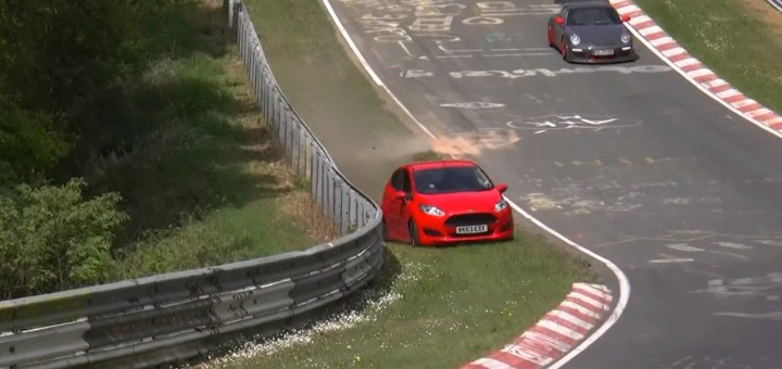 Ford Fiesta Driver Survives Close Call At Is Nrburgring