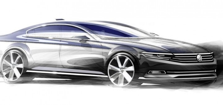 VW Passat Euro Sketch