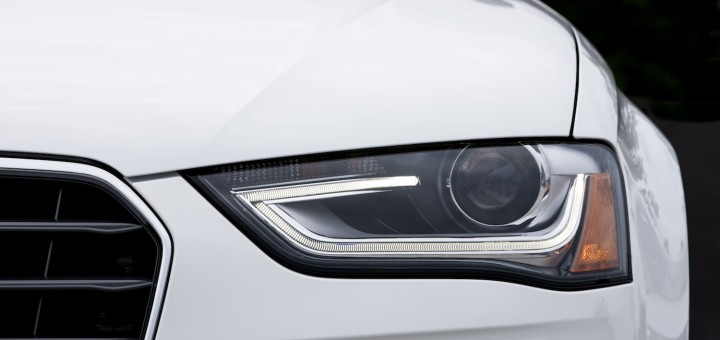 2014 Audi A4 headlight in white