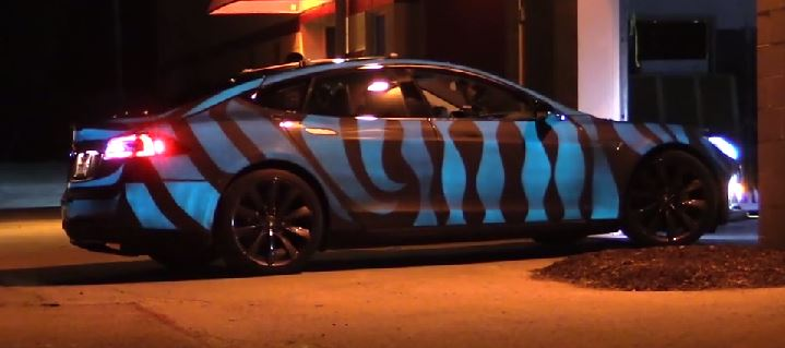 Tesla Model S Glowing Paint