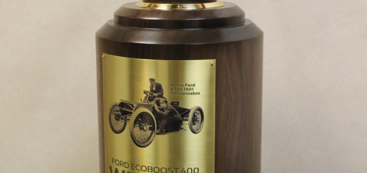 Ford 400 Sweepstakes Wheel Trophy
